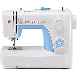 Singer Simple 3221 - Máquina de coser mecánica, 21 puntadas, 120 V, color blanco + Funda Singer para máquina de coser, color negro: Amazon.es: Hogar