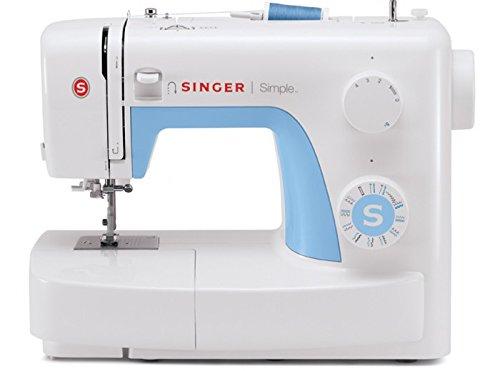 Singer Simple 3221 Machine à coudre Blanche/Bleue 21 Programmes