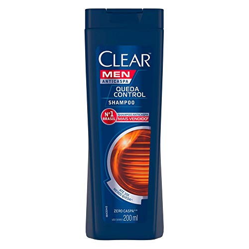 Shampoo Anticaspa Clear Men Queda Control 200 Ml, Clear
