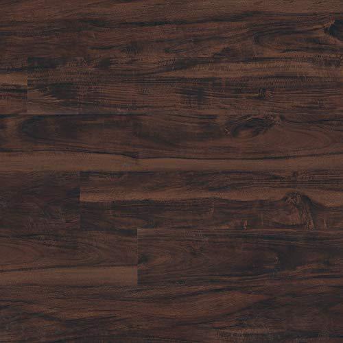 M S International AMZ-LVT-0007P Hampstead Burnside 6 inch x 48 inch Gluedown Adhesive Luxury Vinyl Plank Flooring for Pro and DIY Installationg (70 Cases / 2520 sq. ft. / Pallet), Brown, Square Feet