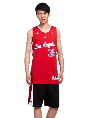 Adidas Canotta NBA Los Angeles Clippers, rossa, taglia XXS