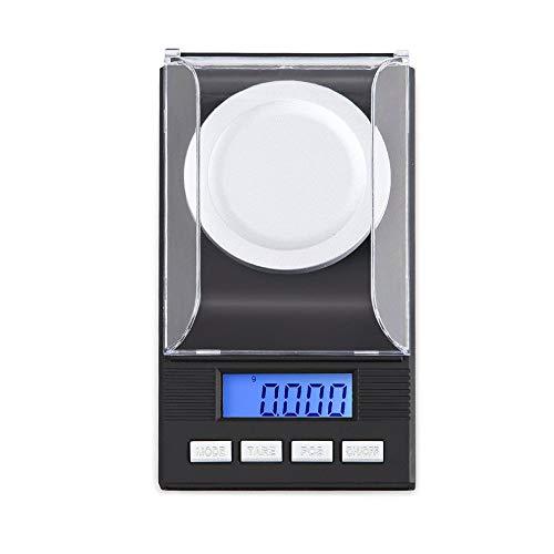 Bilancia digitale per gioielli scala di gioielleria digitale ad alta precisione bilancia 10 g / 20 g / 50 g / 100 g 0,001 g,100g/0.001g+Weight