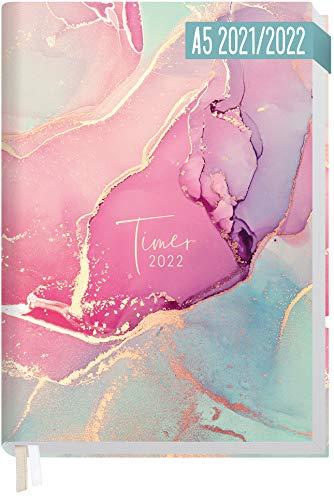 Chäff-Timer Classic A5 Kalender 2021/2022 [Silky Pink] Terminplaner, Terminkalender für 18 Monate: Juli 2021 bis Dez. 2022 | Wochenkalender, Organizer mit Wochenplaner | nachhaltig & klimaneutral