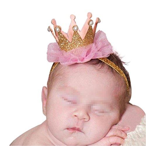 TININNA Bébé Fille Garçon Photographie Chapeau Bonnet Couronne Prop Bandeau Serre-tête Or
