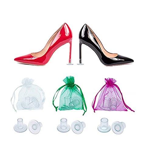 clasificación y comparación Protección de tacón con tacones de aguja, protección de talón, protectores de talón, fundas de reparación de calzado … para casa