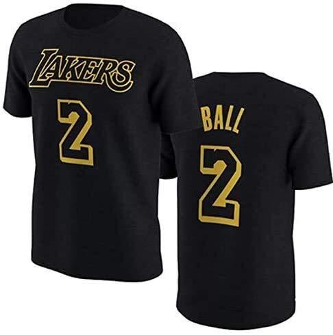 CCJW Lakers Kobe 1996-2016 Retired Commemorative T-Shirt Kobe Baumwolle 24.08 Basketball Aussehen Kleid Kurzarm-Trikots (Color : Black 24, Size : Large)