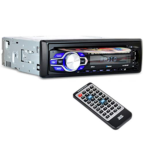 PolarLander Autoradio Bluetooth, Lettore CD Auto, Auto Audio Stereo FM Radio Ricevitore, Auto Stereo Audio Ricevitore in-Dash Radio 12V CD FM MP3 Player Aux SD Card USB con Telecomando