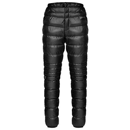emansmoer Herren Winter Dick Daunenhose Snow Skifahren Thermal Heat Hot Outdoor Winddicht Ultraleicht Baumwolle Hose (L, Schwarz)
