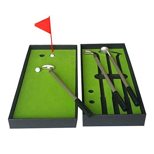 Blanchel Juego de bolígrafo de Golf Mini bolígrafo de Golf de sobremesa con Verdes, bolígrafo de Bandera 3 Colores Bolígrafo Modelo Golf Club y 2 Bolas
