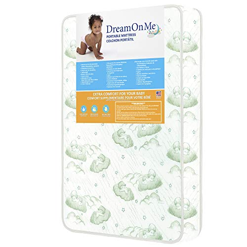 "Dream On Me 3"" Foam Playard Mattress, White (27-CO), ONE Size"