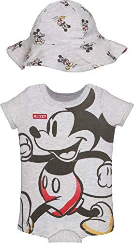 Disney Mickey Mouse Baby Jungen Strampler und Sonnenhut Set - Elfenbein - 18 Monate