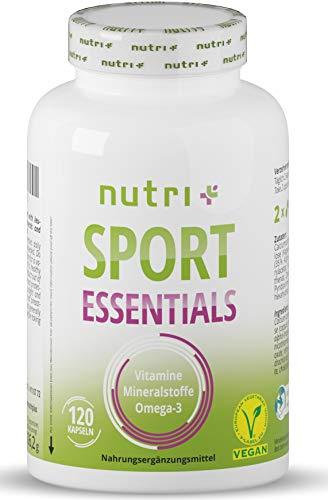 SPORT ESSENTIALS - A-Z Complete für Sportler - 17 Vitamine Mineralien Aminosäuren Antioxidantien - 120 pflanzliche Kapseln mit Vitamin C, D3, Omega 3 - Daily Vitamins Fitness