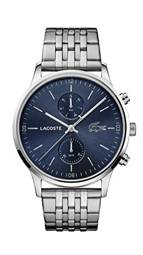Lacoste Herren Analog Quarz Uhr mit Edelstahl Armband 2011067
