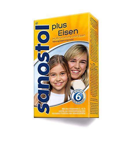 Sanostol plus Eisen: Multi-Vitamine für Kinder ab 6 Jahren und Erwachsene, mit Vitaminen und Eisen, 230ml