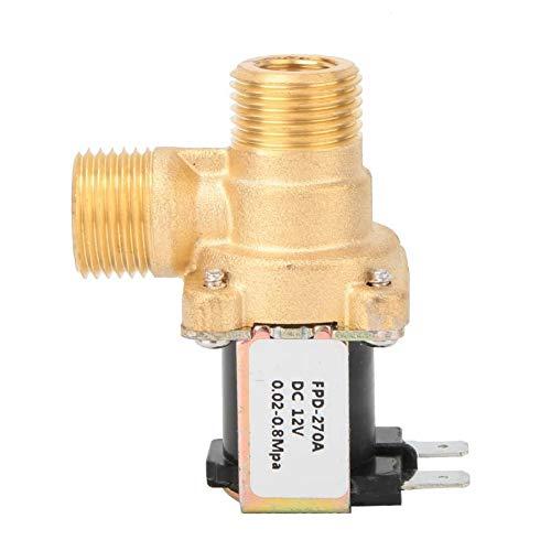 XIAOLUTIANM Válvula G1 / 2' de latón de la válvula solenoide de Entrada de Agua Interruptor electromagnético válvulas Normalmente Cerrar (Color : Brass, Size : DC24V)