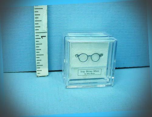 New Fairy Garden Miniature Eyeware Glasses Male #CBR83 Silver Itsy Bitsy Mini 1/12 Scale Dollhouse Magic Scene Supplies Accessories