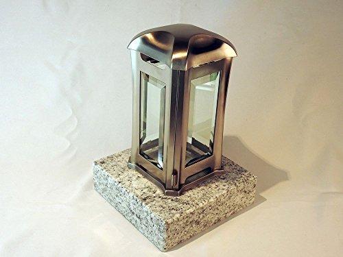 designgrab AEL5AGB1Visc Grablampe Venezia aus Edelstahl, Silber, 13 x 13 x 24 cm