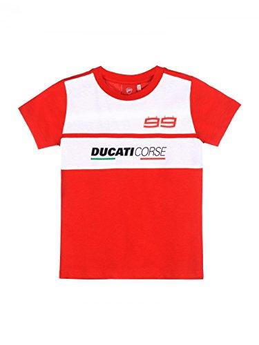 2018 Jorge Lorenzo 99 Ducati Corse MotoGP Kinder T-Shirt Kinder Jungen Alter 2–10, Jungen, rot, Kids 8-10 Years