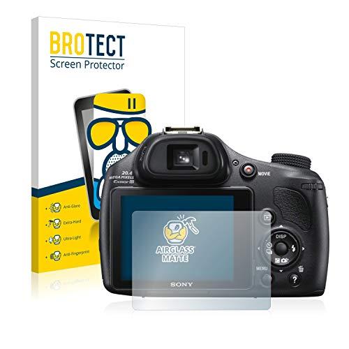 brotect Pellicola Vetro Opaca Compatibile con Sony Cyber-Shot DSC-HX400V Protezione Schermo Anti-Riflesso Durezza 9H, AirGlass