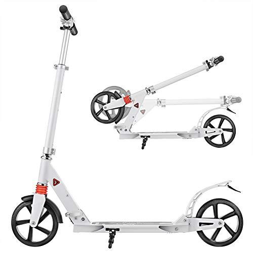 YUEBO Monopattino Bambina/Adulti Pieghevole e Altezza Regolabile Big Wheel Kick Scooter 2 Ruote con Freno