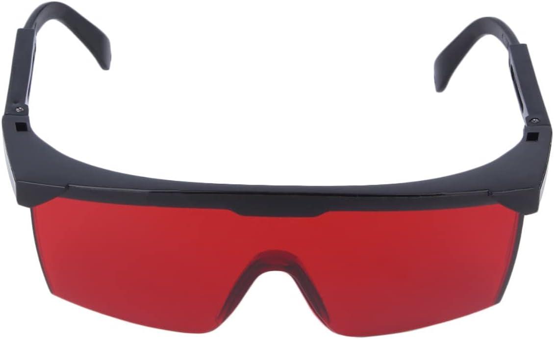 Greatangle-UK Gafas Protectoras para los Ojos Gafas de Seguridad láser Gafas para Ojos Gafas Gafas láser Frescas Universales para Hombre Mujer Rojo