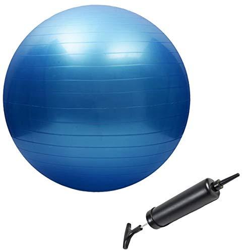 Slosy Pelota de Pilates 75cm para Embarazadas Bola de Yoga Kit Balon Fitness + Inflador Anti-Explosion Gimnasia, Fitball, Embarazo, Gym Balon Elástico para Deporte y Entrenamiento
