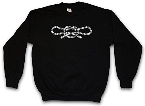 Urban Backwoods Narcos Handcuff Knot Sweatshirt Pullover Schwarz Größe M