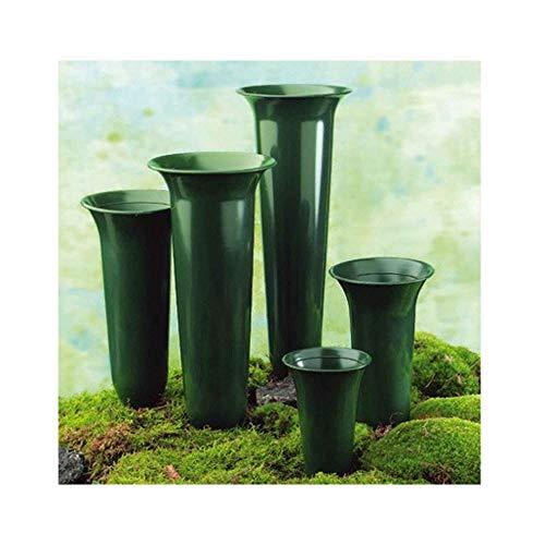 N/A Grabvase in Tulpenform Höhe 42cm Kunststoff grün