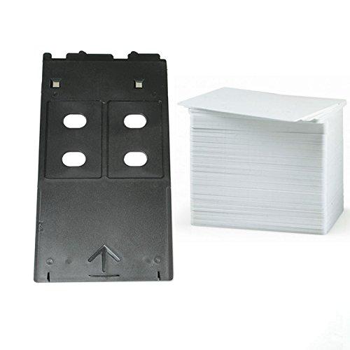 EMORE Kit de tarjetas de PVC de inyección de tinta con bandeja para impresora Canon IP.MG, MP series Inkjet (bandeja+20 tarjetas de tarjetas)