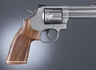 Hogue GP100/Super Redhawk PAU Ferro No Finger Groove Stripe Cap Checkered Gun Grips