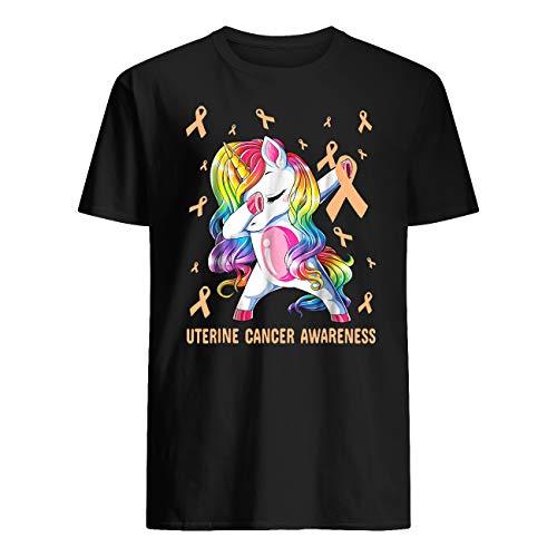 AKDesigns - Camiseta de concienciación sobre el cáncer de mama con unicornio