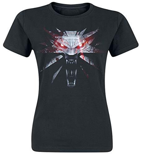 The Witcher Medallion Frauen T-Shirt schwarz L 100% Baumwolle Fan-Merch, Gaming, TV-Serien