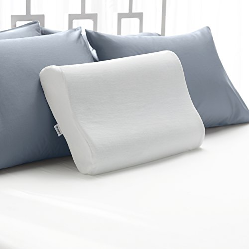 Sleep Innovations Cooling Contour Memory Foam Pillow, Cervical Support...