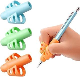 Busybee 鉛筆もちかた 矯正 子供 柔らかい ペングリップ 持ち方矯正 鉛筆持ち方サポーター 鉛筆グリップ 鉛筆持ち方 サポーター 左右手兼用 3個入り 柔らかいシリコン