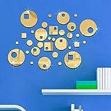 YLJYST - Adhesivo decorativo para pared, diseño de espejo circular
