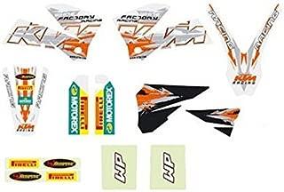 NEW 2005-2007 KTM WHITE GRAPHICS KIT DECALS 125-540 SX XC EXC 54808190300