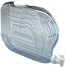 "Arrow Home Products Ultra Slimline Beverage Dispenser, 10"" X 14.5 "" , 1.25-Gallon,Clear-White Top/Spigot"