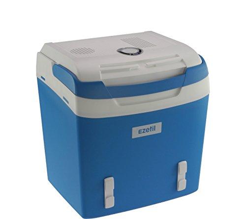 Photo de ezetil-glaciere-electrique-portable-bleu-blanc