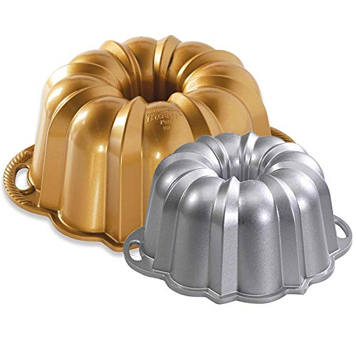 Set of 2 Nordic Ware Cake Anniversary Bundt Pans - 15 and 6 Cup