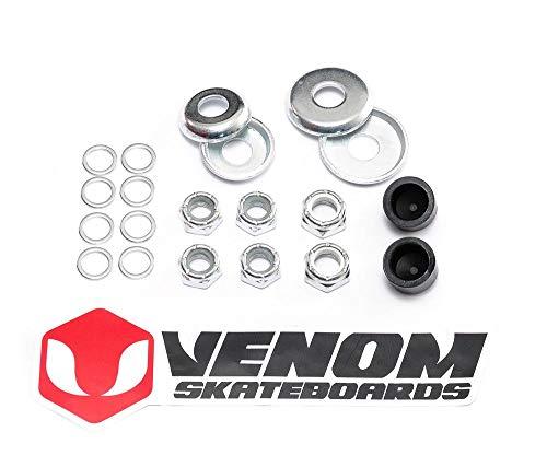 Venom Universal Skateboard-/Skate-Truck Umbaukit inkl. Unterlegscheiben, Kingpin Bolzen, Achse Bolzen und mehr.