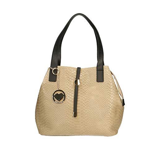 Chicca Borse Bag Borsa a Spalla in Pelle Made in Italy 30x24x13 cm