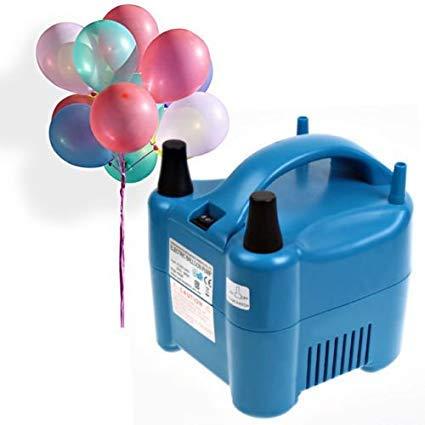 Amzdeal Luftballonpumpe elektrische Ballonpumpe mit automatik & halbautomatisch Modi Ballonaufblasgerät und Tragbare Ballons Pumpe für Geburtstagsfeiern, Party, Hochzeitsfeiern
