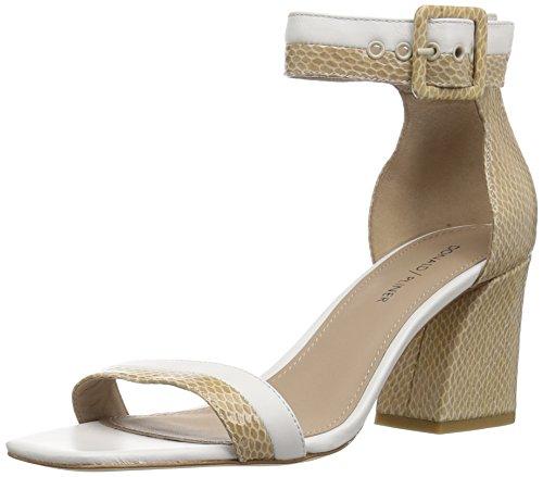 Donald J Pliner Women's Watson Sandal, Sand/Off White, 10 M US