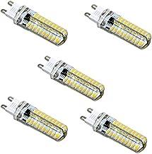 EMGQ Energiebesparende gloeilamp LED-lampen 5 stks G9 5W 80LEDS SMD 4014 Energiebesparende LED Siliconenlamp (Color : Cold...