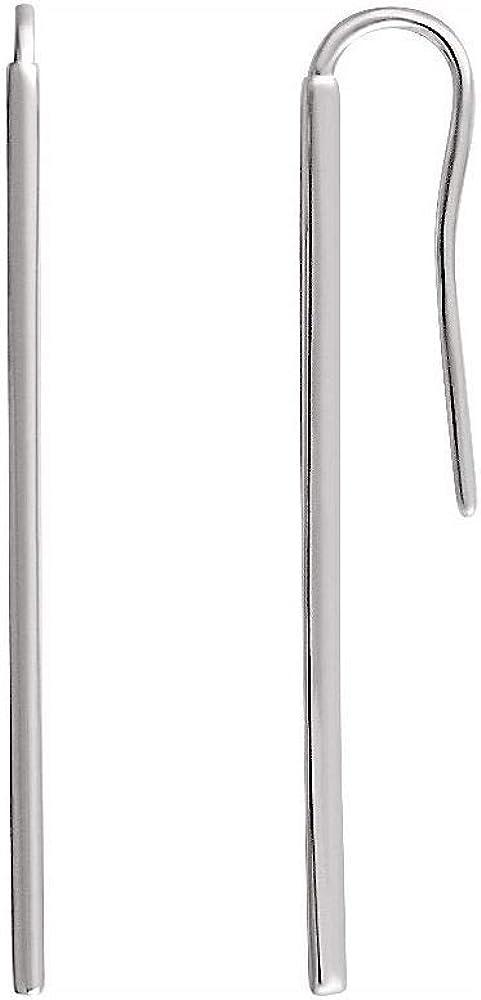 Vertical Bar Earrings (39mm x 1.3mm)