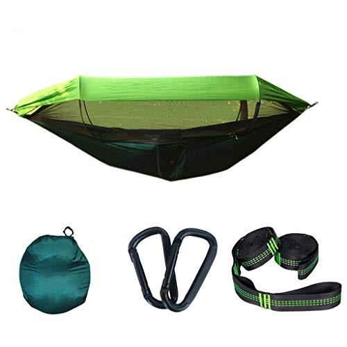 zxb-shop Columpios Swing de Hamaca de Doble al Aire Libre con Cubierta Neta Camping portátil Camping Hammock Interior y al Aire Libre sillín de Swing Showing Jardín (Color : C)