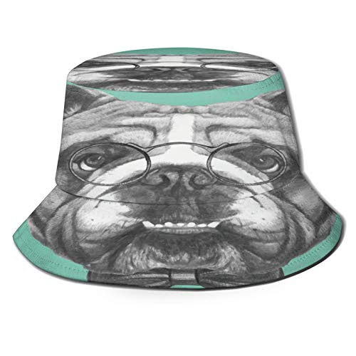 Sombrero de Pescador Unisex Tortugas de Patrones sin Fisuras Plegable De Sol/UV Gorra Protección para Playa Viaje Senderismo Camping