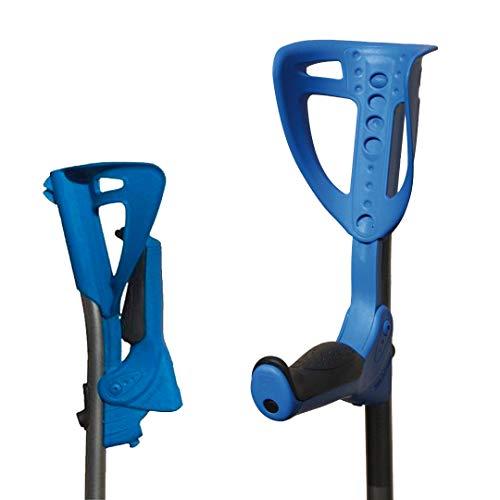 Obbocare | Par de muletas Ergotech con empuñadura plegable para optimizar el espacio y brazalete ajustable en 4 posiciones