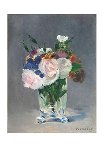 Spiffing Prints Edouard Manet - Flowers in a Crystal Vase Edouard Manet c1882 - Small - Archival...