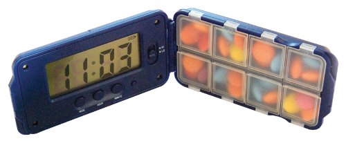TabTime Super 8 - Pill Timer Reminder with 8 Compartments and Up to 8 Alarms Daily
